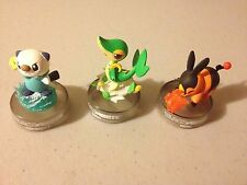 OSHAWOTT SNIVY TEPIG 3 Figure Set Pokemon BLACK & WHITE Tin Starters NEW TOYS
