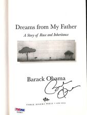 President Barack Obama Signed Autographed Dreams From My Father Book PSA LOA