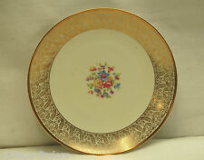 "P T Bavaria Tirschenreuth 7-3/8"" Salad Plate Floral Center Gold Trim ~ Germany"
