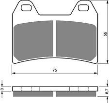 RENTHAL RC-1 SINTERED FRONT BRAKE PADS FITS YAMAHA XT660 R 2004-2015