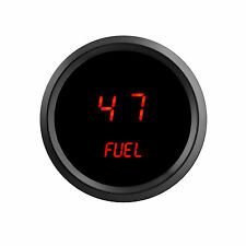 52mm 2 1/16 in Digital FUEL GAUGE Intellitronix RED LEDs! Black Bezel! Warranty!