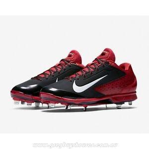 Nike Air Huarache Pro Low Metal Black White Varsity Red baseball 599233-016
