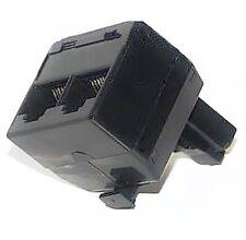 2-fach ISDN Modular-Adapter T-Stück schwarz Splitter Doppler Telefon 8P8C RJ-45