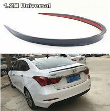 Universal Black Soft Car Rear Roof Trunk Spoiler Rear Wing Lip Trim Sticker 1.2M