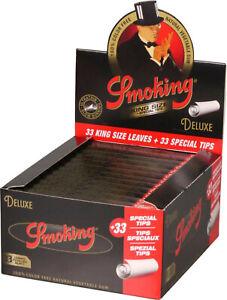 Smoking Cigarette Paper King Size de Luxe /24 Booklet Per 33 Sheet Plus 33 Tips