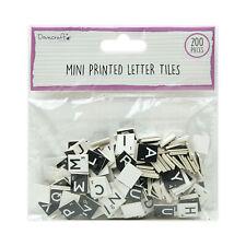 Black & White Printed Letter Tiles - Dovecraft - Scrabble Style - 200pc - MINI