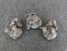 3 Vintage Contemporary Composite Bears Made in Pueblo Co Animal Accents