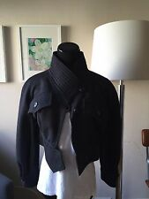 Christian Lacroix, Pret-a-porter, Woman's Cropped Jacket, Dark Gray, XS, Wool