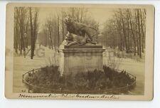 Berlin, Germany - Original 19th Century Cabinet Card Photo - Tiergarten Park