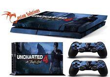 PS4 Consola & Set de pegatinas para mandos UNCHARTED 4A thief's END UK