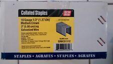 """GRBSC1112 Grip-Rite Medium Crown Staple, 1/2""""cr , 2"""", 16 Gauge - 10,000 count"""