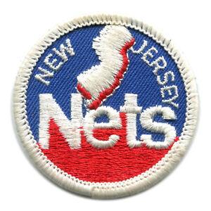 "1978-89 NEW JERSEY NETS NBA BASKETBALL VINTAGE 2"" ROUND TEAM LOGO PATCH"