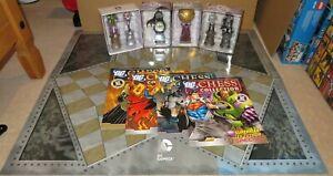 EAGLEMOSS DC COMICS CHESS - JOB LOT - CHESS BOARD, MAGAZINES & 6 SPECIAL PIECES