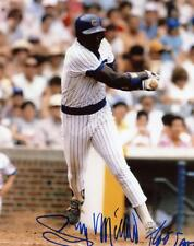 GARY MATTHEWS CHICAGO CUBS SIGNED AUTOGRAPHED ACTION 8X10 PHOTO W/COA