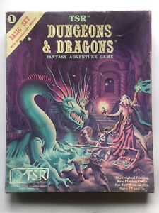 TSR Dungeons & Dragons ,No1 Basic Set With Introductory Module ,Complete.