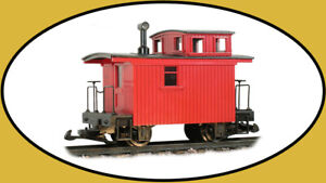 """LED LGB Bobber Caboose lighting 4"""" x 2"""" All Warm White & 2-Solid-Red-Tail Lights"""