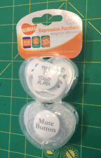 Ulubulu expression pacifiers 6-18 months (2) Two Sound Alarm And Mute Button