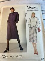 Vogue 1186 Oscar de la Renta Jacket Skirt Top Designer Pattern Size 16 Uncut