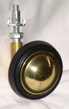 4-Shepherd Brass Casters Locking