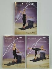 Fluidity Fitness Workout DVDs Lot 3 Advanced Intermediate Seat & Thigh NEW