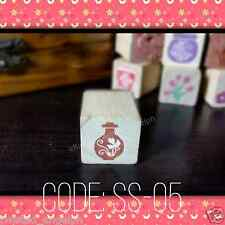Floral Stamp/Floral Wooden Stamp/Wood Mounted Rubber Stamp [Code: SS-05]