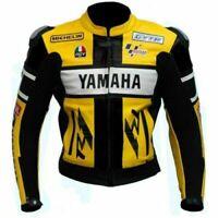 YELLOW YAMAHA Motorbike Leather Jacket Racing Motorcycle Biker Leather Jackets