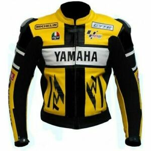 YELLOW YAMAHA Motorbike Leather Jacket Racing Motorcycle Biker Leather Jackets