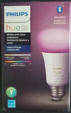 Philips Hue White and Color Ambiance A19 LED 60W Light Bulb 548487 NIB&FREE SHIP