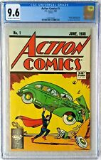 CGC 9.6 ACTION COMICS #1 .. 1ST SUPERMAN .. 1988 REPRINT ..