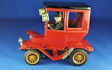 Tôle/Tin Wind-Up Toy: Bandai Oldtimer avec chauffeur/with Driver, environ 1960