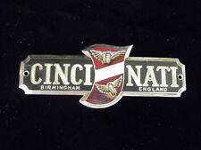 Vintage Birmington England Cinci  Nati  Car Metal Plaque Model design Plate