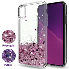 Pink Purple Liquid Glitter Quicksand Soft Silicone Transparent Phone Case Cover