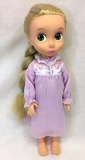 Disney Tangled Rapunzel Animators Doll 1st Edition Tinsel Hair Purple Nightgown
