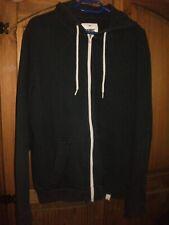 Mens Navy Blue Fleece Lined Hooded Zip-Up Casual Jacket - Size XXL