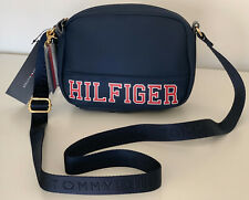 NEW! TOMMY HILFIGER BLUE CAMERA MESSENGER CROSSBODY SLING BAG PURSE $78 SALE