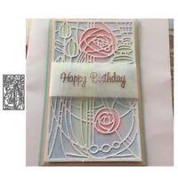 Stanzschablone Blume Rose Hochzeit Weihnachten Oster Geburtstag Karte Album DIY