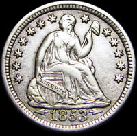 1853 Seated Liberty Half Dime ----  Type Coin Nice  ---- #H617