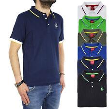 Polo Uomo Manica Corta Atlantis Maglietta Girocollo Maglia T-shirt 100% Cotone