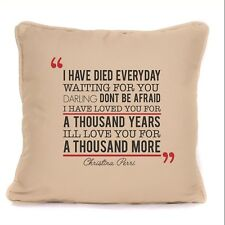 Christina Perri A Thousand Years Song Lyrics Cushion With Pad Included