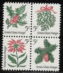 xsa138 Scott 1254-57 US Stamp 1964 5c Christmas MHG Block of 4