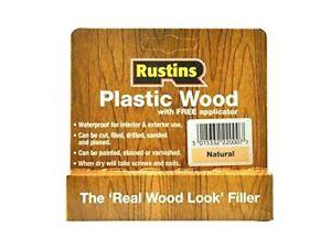Rustins Plastic Wood Natural Filler Repair Fix Fills Cracks Gaps DIY Tube New