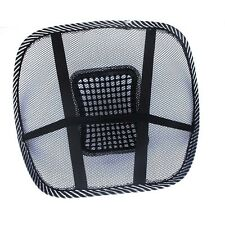 NEW COOLING AIR MESH BACK REST MASSAGE PAD LUMBAR SUPPORT OFFICE CHAIR CAR SEAT
