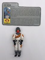 GI Joe 1987 Ice Viper v1 Cobra Wolf Driver Hasbro Action Figure 598