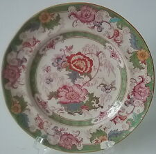 Bentick Green Cauldon English Porcelain Salad Plate Hand Painted Sterns NY 1905