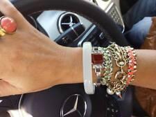 Banana Republic PNK GRN Gold Stud Tan Sueded Friendship Bracelet NWOT $39 set 2
