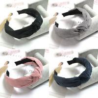 Moda da Donna Fascia Cerchietto per Capelli Fiocco Croce Headwrap Hoop Accessori