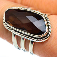 Smoky Quartz 925 Sterling Silver Ring Size 8.5 Ana Co Jewelry R46448F