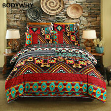 Bohemian style 3d quilt bedding set large quilt cover sheets pillowcase sheets