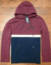 Abercrombie & Fitch Men's Burgundy Pullover Cotton Hoodie Hooded Jacket XL