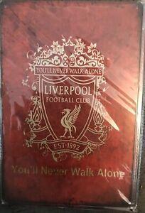 Liverpool Metal Sign Vintage  Football Lfc Bar Man Cave Plaque